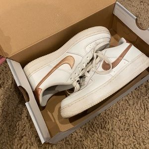 Nike Rose Gold Air Force 1's w/ Box!